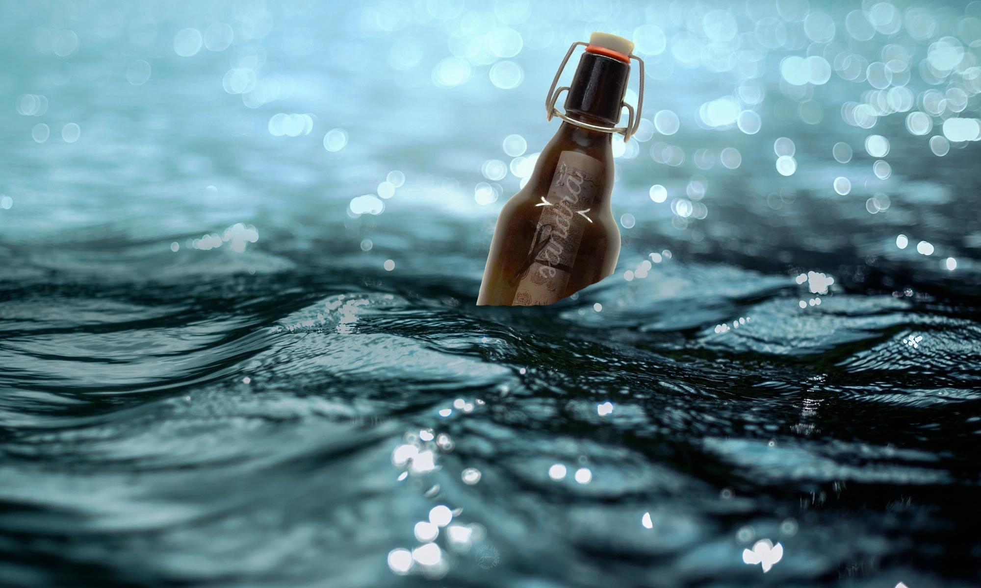Bierflaschenpost